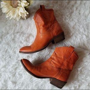 Burnt Orange Frye boots